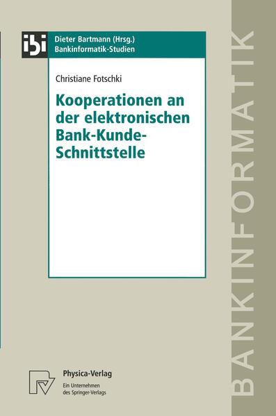 Kooperationen an der elektronischen Bank-Kunde-Schnittstelle - Coverbild