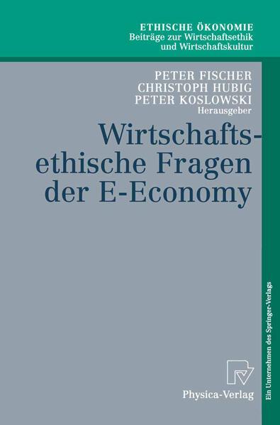 Wirtschaftsethische Fragen der E-Economy - Coverbild
