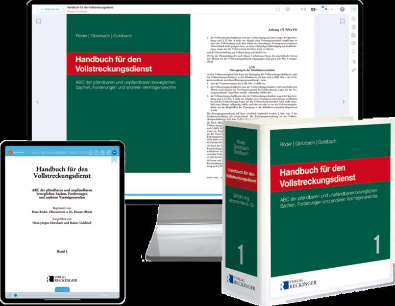 Handbuch für den Vollstreckungsdienst – Print + Digital - Coverbild