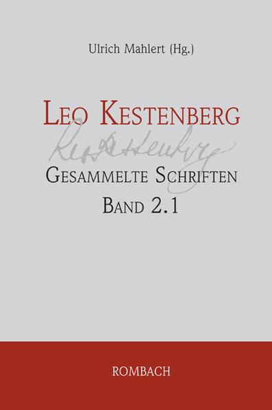 Leo Kestenberg: Gesammelte Schriften - Coverbild