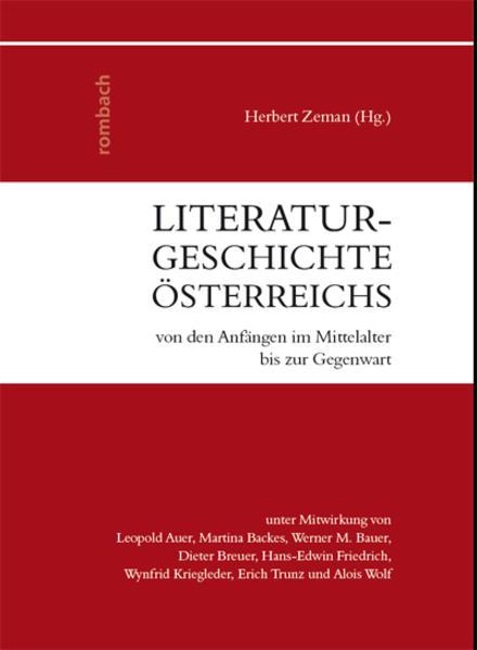 Literaturgeschichte Österreichs - Coverbild