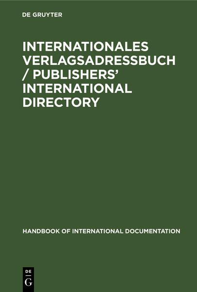 Handbuch der technischen Dokumentation und Bibliographie - Coverbild