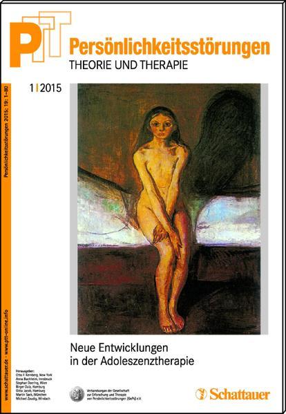 Persönlichkeitsstörungen PTT/ Persönlichkeitsstörungen - Theorie und Therapie, Bd. 1/ 2015: Neue Entwicklungen in der Adoleszenzpsychiatrie - Coverbild