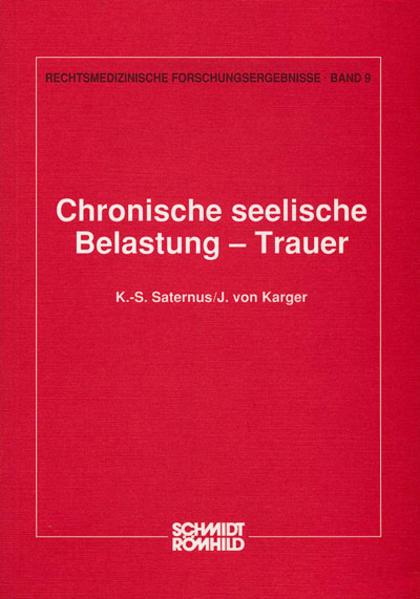 Chronische seelische Belastung - Trauer - Coverbild