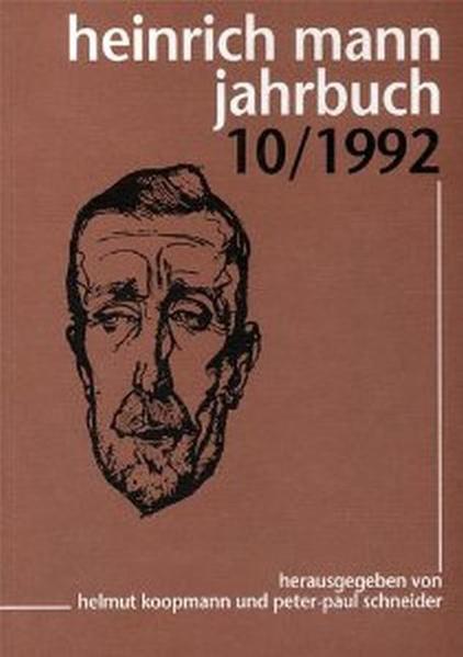 Heinrich Mann-Jahrbuch / 10/1992 - Coverbild