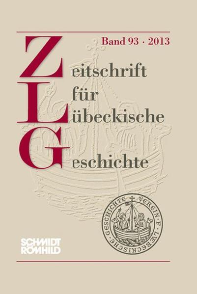 Zeitschrift für Lübeckische Geschichte Band 93/2013 - Coverbild