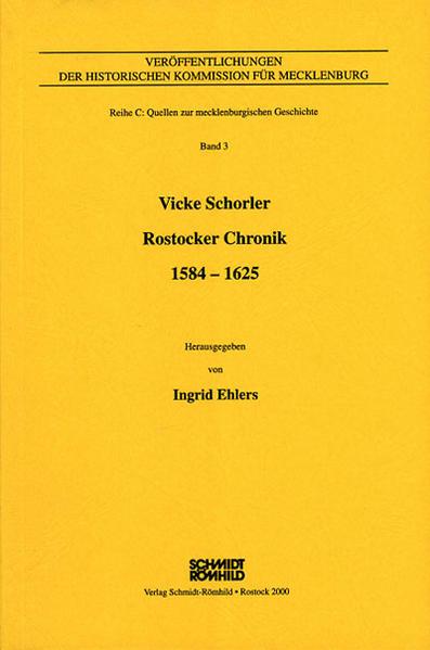 Vicke Schorler - Rostocker Chronik 1584-1625 - Coverbild