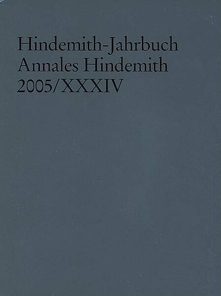 Hindemith-Jahrbuch - Coverbild