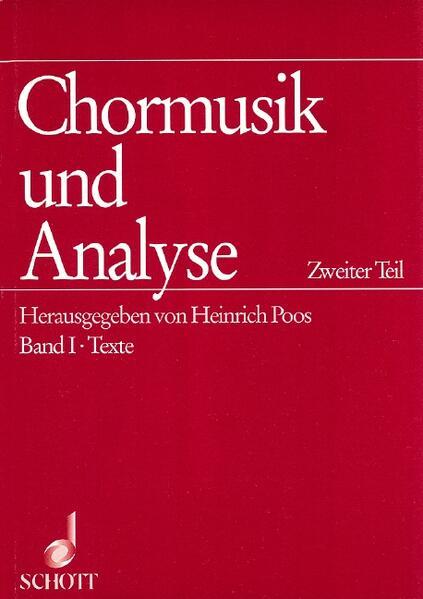Chormusik und Analyse - Coverbild