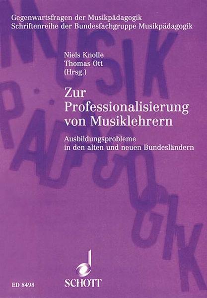 Zur Professionalisierung von Musiklehrern - Coverbild