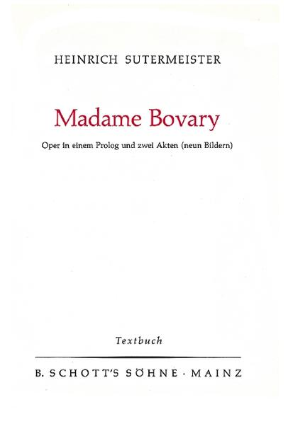 Madame Bovary - Coverbild