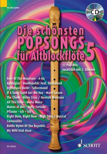 Die schönsten Popsongs für Alt-Blockflöte - Coverbild
