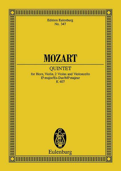 Quintett Es-Dur - Coverbild