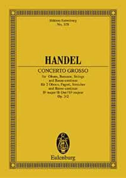 Concerto grosso B-Dur - Coverbild
