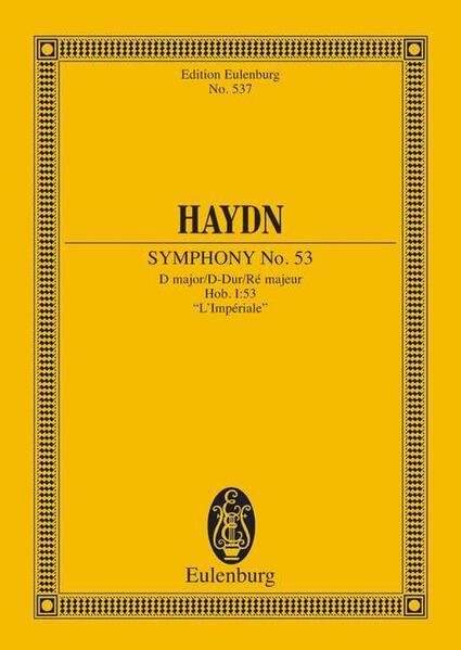 Sinfonie Nr. 53 D-Dur - Coverbild