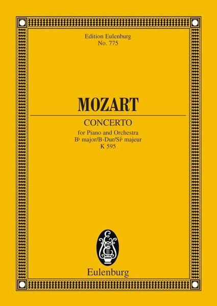 Konzert Nr. 27 B-Dur - Coverbild