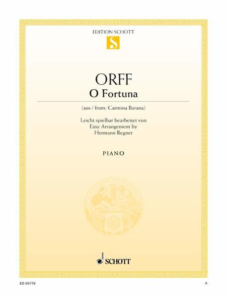 O Fortuna von Schott Music PDF Download