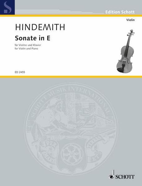 Sonate in E - Coverbild