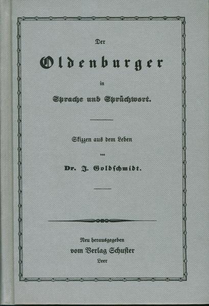 Der Oldenburger in Sprache und Sprüchwort - Coverbild