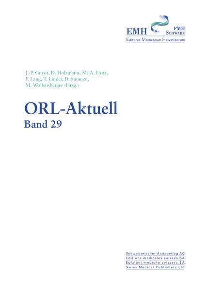 ORL- Aktuell. Verhandlungsberichte der wissenschaftlichen Frühjahrsversammlung... / ORL-Aktuell - Coverbild