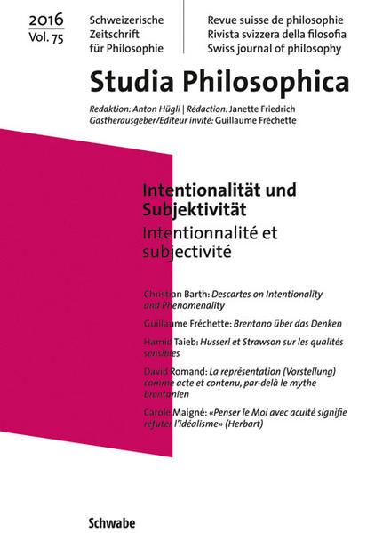 Intentionalität und Subjektivität - Coverbild