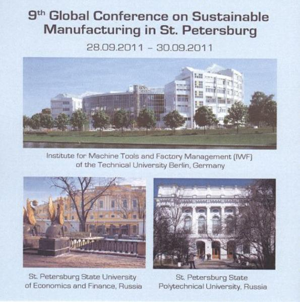 9th Global Conference on sustainable manufacturing in St. Petersburg, Russia. 28.09.2011 - 30.09.2011 - Coverbild