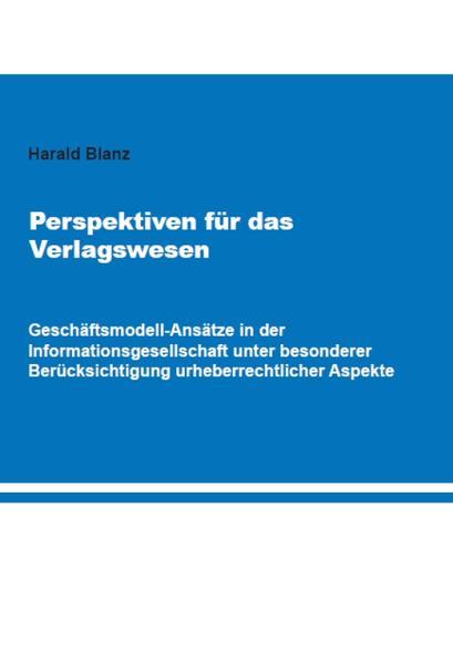 Perspektiven für das Verlagswesen - Coverbild