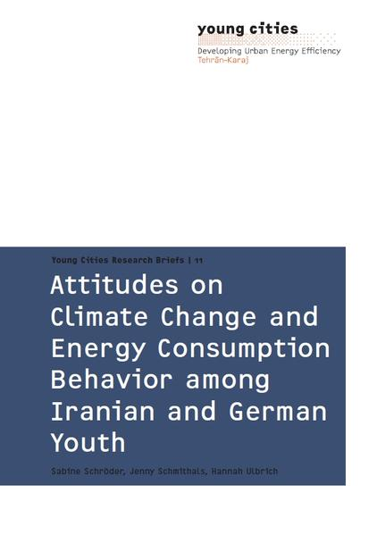 Attitudes on Climate Change and Energy Consumption Behaviour among Iranian and German Youth - Coverbild