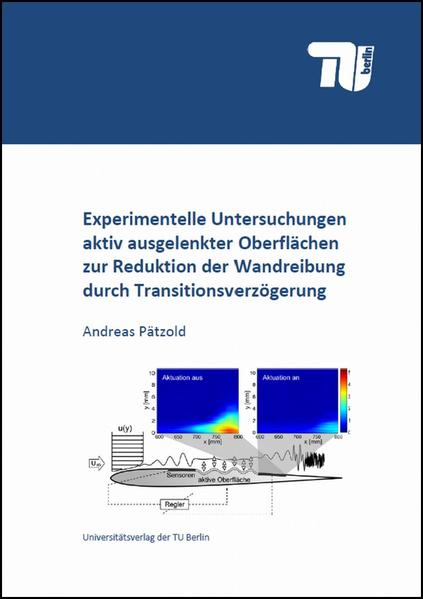 Experimentelle Untersuchungen aktiv ausgelenkter Oberflächen zur Reduktion der Wandreibung durch Transitionsverzögerung - Coverbild