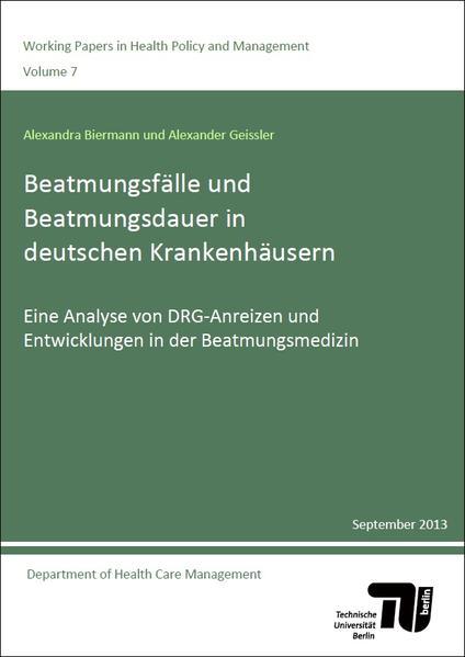 Beatmungsfälle und Beatmungsdauer in deutschen Krankenhäusern - Coverbild