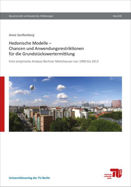 Hedonische Modelle – Chancen und Anwendungsristriktionen für die Grundstückswertermittlung - Coverbild