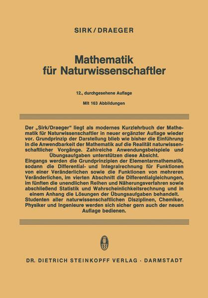 Mathematik für Naturwissenschaftler - Coverbild