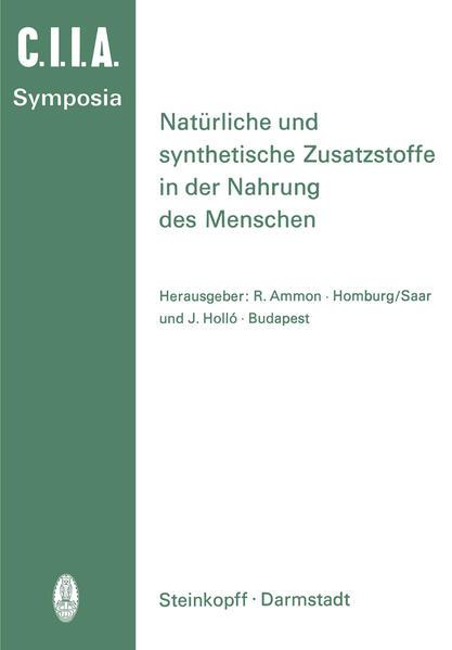Natürliche und Synthetische Zusatzstoffe in der Nahrung des Menschen - Coverbild