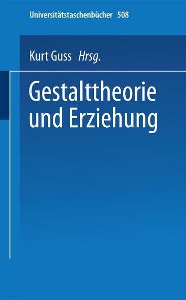 Gestalttheorie und Erziehung - Coverbild