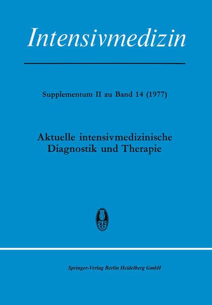 Aktuelle Intensivmedizinische Diagnostik und Therapie - Coverbild