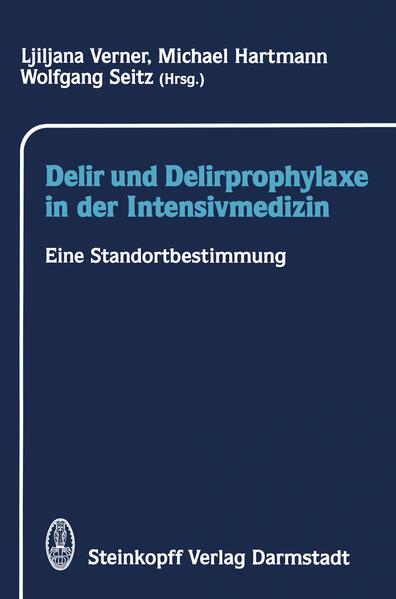 Delir und Delirprophylaxe in der Intensivmedizin - Coverbild