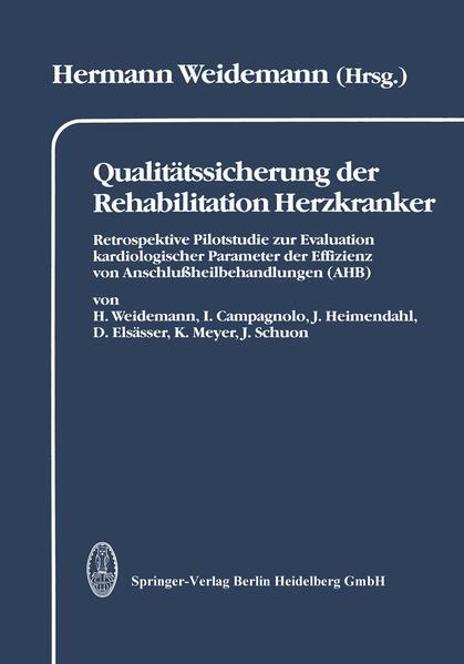 Qualitätssicherung der Rehabilitation Herzkranker - Coverbild