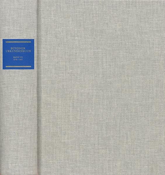 Bündner Urkundenbuch - Coverbild