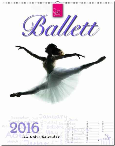 Ballett 2016 - Ein Notiz-Kalender - Coverbild