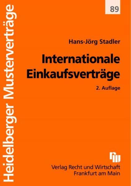 Internationale Einkaufsverträge - Coverbild