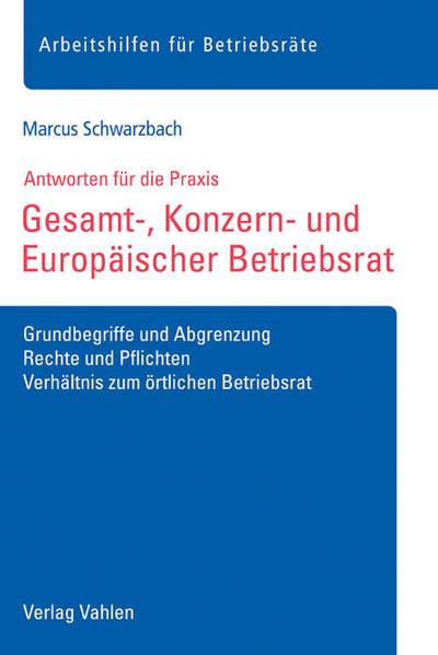 Gesamt-, Konzern- und Europäischer Betriebsrat - Coverbild