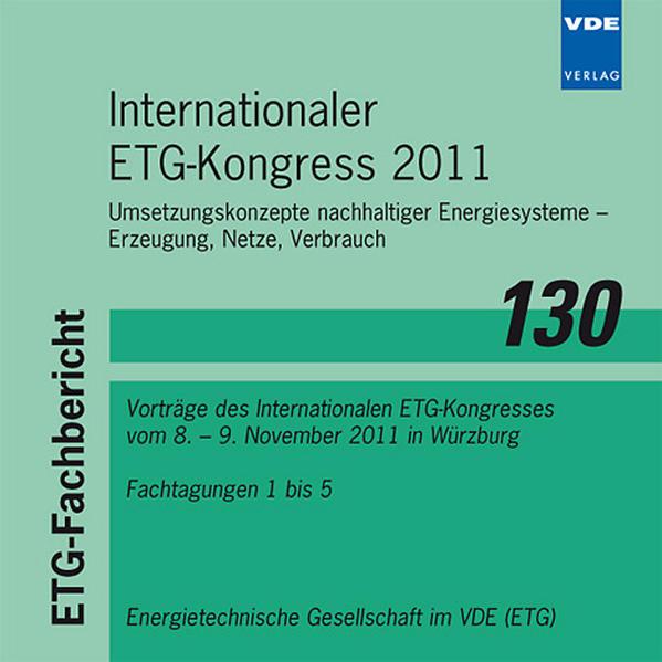 Internationaler ETG-Kongress 2011 - Coverbild