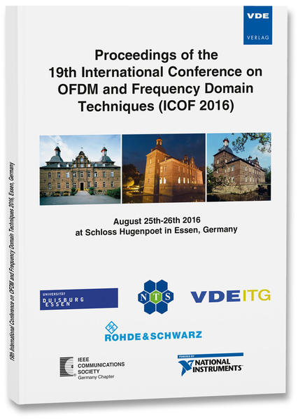 Proceedings of the 19th International Conference on OFDM and Frequency Domain Techniques (ICOF 2016) - Coverbild