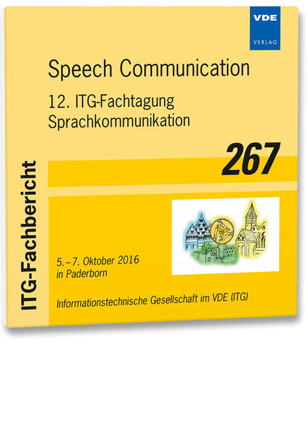 ITG-Fb. 267: Speech Communication - Coverbild