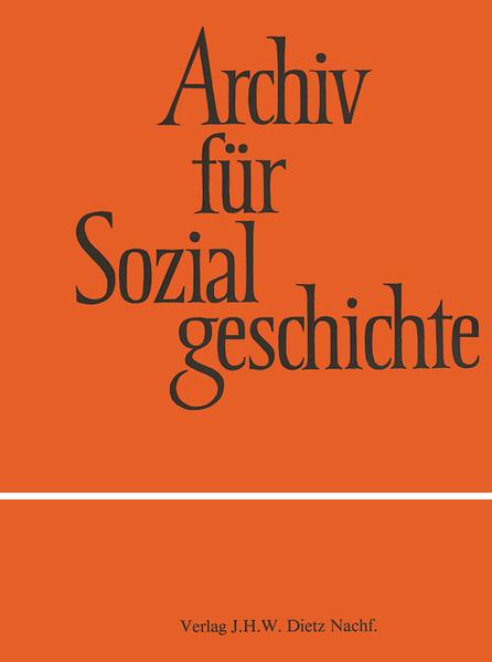Archiv für Sozialgeschichte, Band 52 Epub Kostenloser Download
