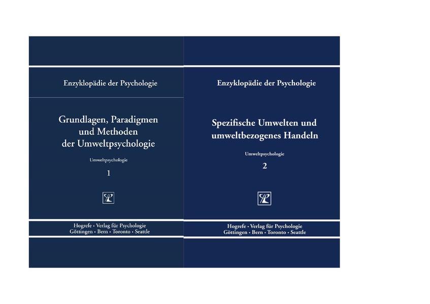 Enzyklopädie der Psychologie / Themenbereich C: Theorie und Forschung / Umweltpsychologie - Coverbild
