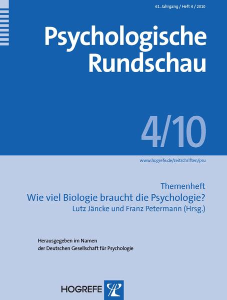 Psychologische Rundschau - Coverbild