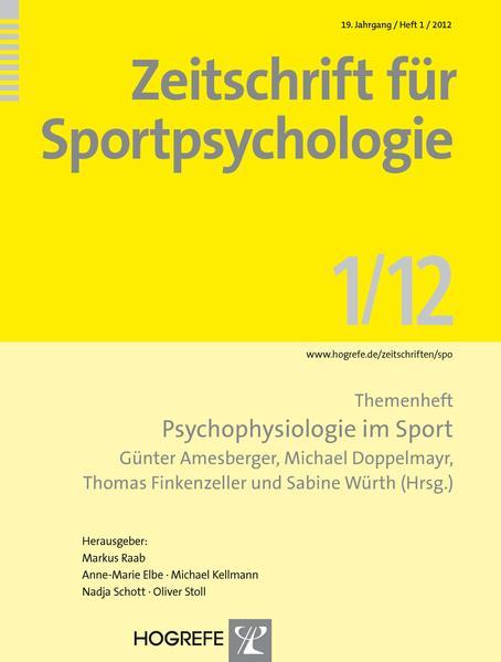 Zeitschrift für Sportpsychologie / Themenheft:  Psychophysiologie im Sport - Coverbild