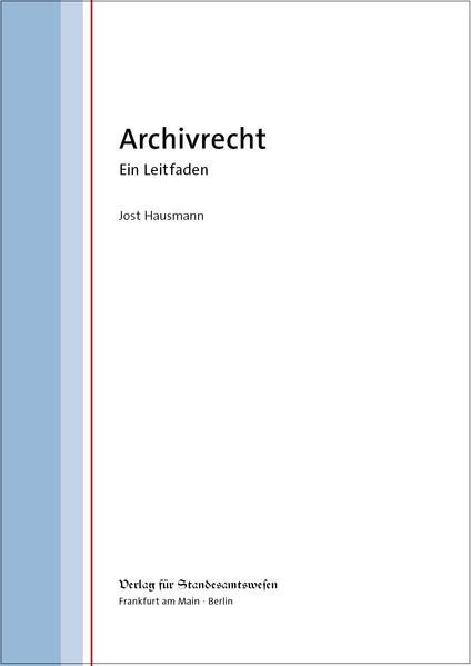 Archivrecht - Coverbild
