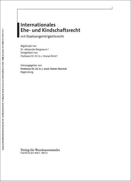 Internationales Ehe- und Kindschaftsrecht mit Staatsangehörigkeitsrecht - Coverbild